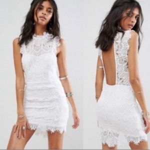 Free People Daydream White Lace Bodycon Dress Sm